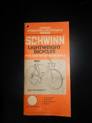 10 speed lightweight bicycle owners manual