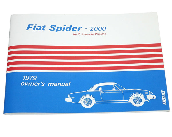 fiat 124 spider owners manual