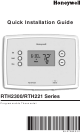 honeywell rth2300 rth221 owners manual