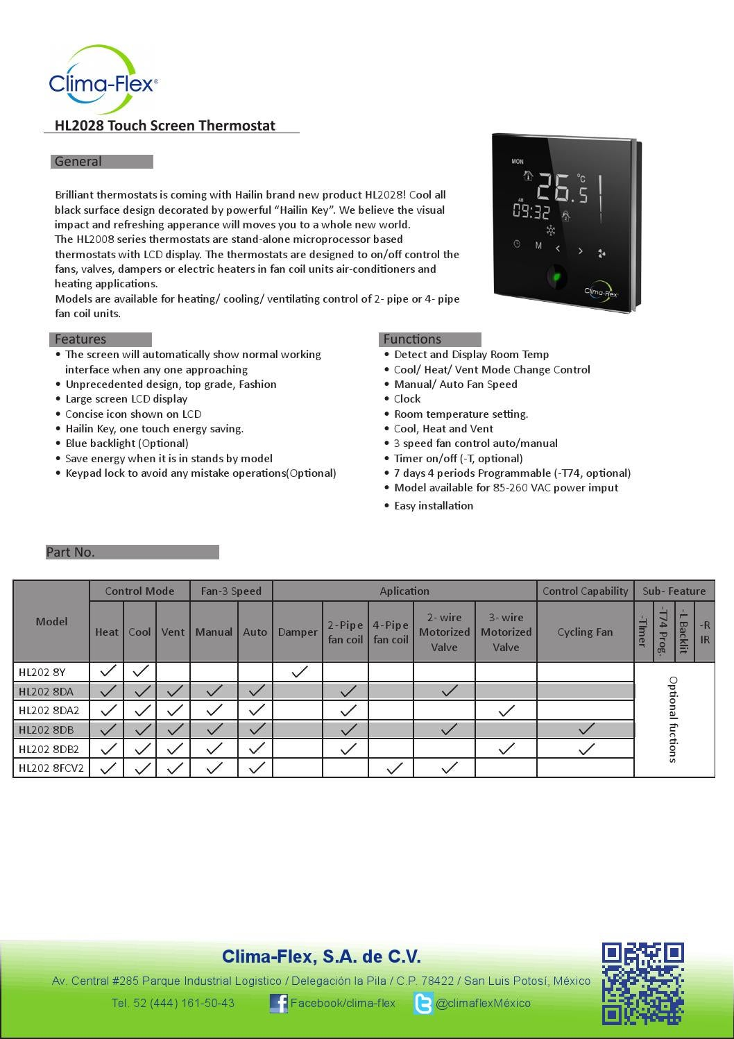 protouch touch screen thermostat user manual