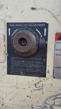 100 ton warco punch press owners manual