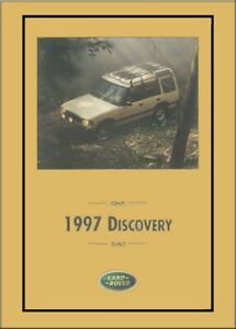 1997 land rover discovery owners manual