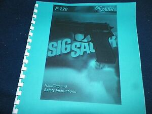 sig sauer p220 owners manual